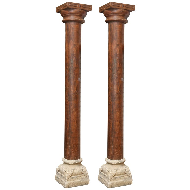 first quarter of 19th century load bearing columns from colonial mansion for sale at 1stdibs. Black Bedroom Furniture Sets. Home Design Ideas