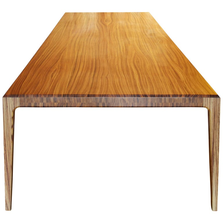 Paere Dansk PD60 Dining Table of Solid Zebrano For Sale