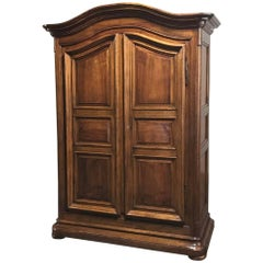 19th Century Country French Walnut Armoire