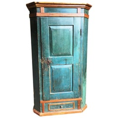 18th Century Painted Armoire