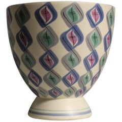 Ruth Pavely Mid-Century Modern Free-Form Poole Pottery Vase in Harlequin Pattern