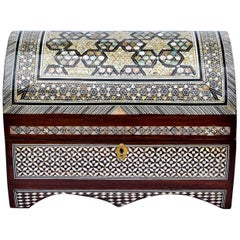 Mother-of-pearl Inlaid Dome Jewelry Box