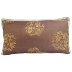 Pair of 19th Century Kesa Decorative Lumbar Pillows with Silk Trims