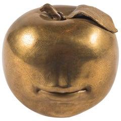 Surrealist 22-Karat Glazed Bisque Pomme Apple