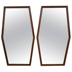 Pair of Mirrors with a Boxed Diamond Motif