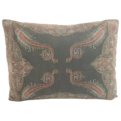 Antique Kashmir Paisley Lumbar Decorative Pillow