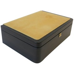 Italian Leather Jewelry Box by Luxury Maker Ghiso