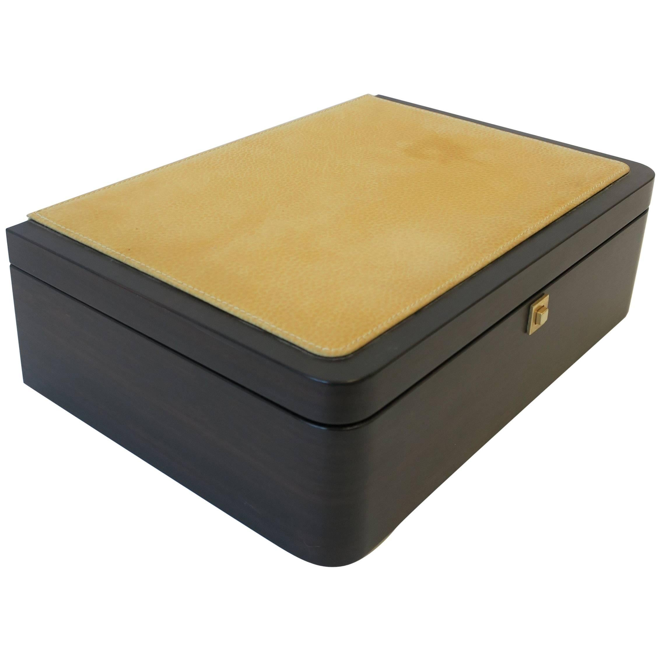 Italian Leather Jewelry Box by Luxury Maker Ghiso Italy  sc 1 st  1stDibs & Tanner Krolle Green Leather Jewelry Box London England at 1stdibs Aboutintivar.Com
