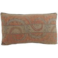 Antique Kashmir Paisley Lumbar Decorative Pillow