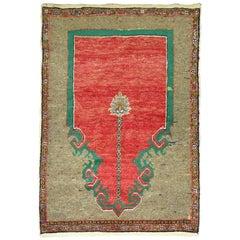 Vintage Turkish Anatolian Prayer Rug