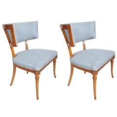 Pair of Hollywood Regency Klismos Chairs by Grosfeld House