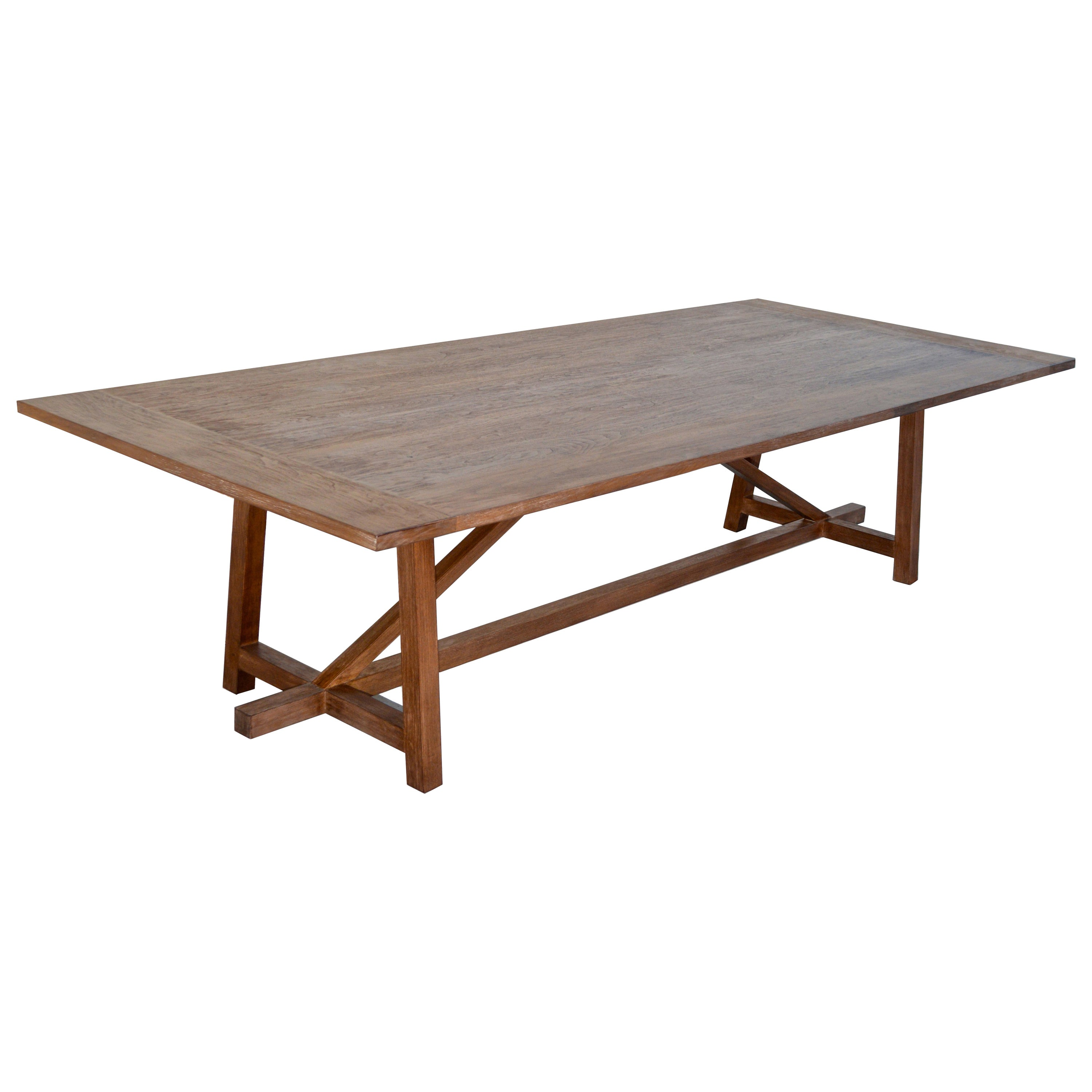 Custom Dining Table in Aged Walnut, Built to Order by Petersen Antiques