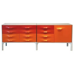 Space Age Raymond Loewy DF-2000 Credenza for Doubinsky Frères, France, Rare