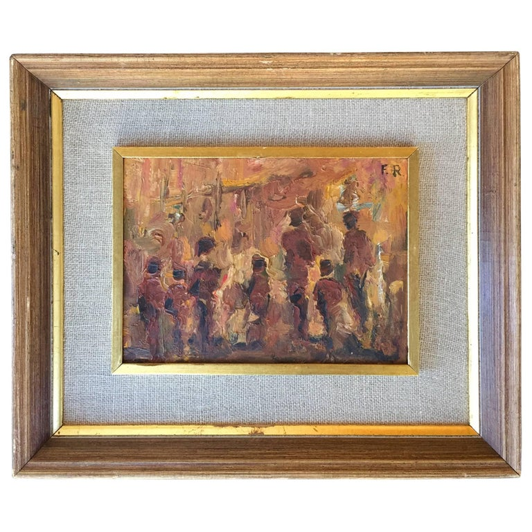 """The Gathering"" Painting by Fanny Rabel For Sale"