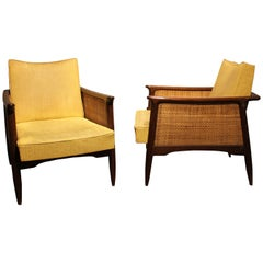 Rare and Unusual Pair of Mid-Century Modern Lounge Chairs
