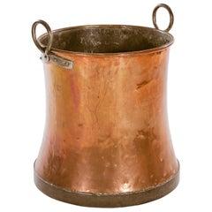Waisted Copper Log Bin