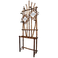 Elaborate 19th Century English Bamboo Hall Stand