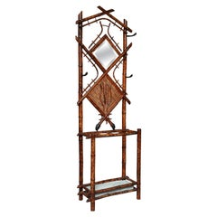 """Superbly """"Slender"""" 19th Century English Bamboo Hall Stand"""