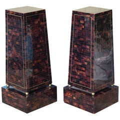 Pair of Maitland Smith Hollywood Regency Pedestals