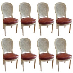 Set of Eight Louis XVI Dining Chairs
