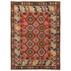 Antique Caucasian Gendje Kazak Rug