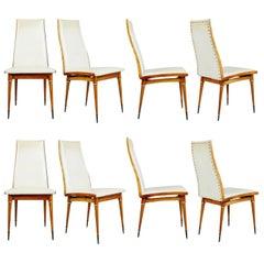 Eight Giuseppe Scapinelli Caviuna Dining Chairs, Brazil, circa 1950