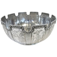 Tiffany Sterling Silver Chinoiserie Style Bowl