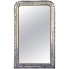 Silver Gilt Louis Philippe Mirror (H 55 x W 34)
