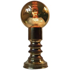 Midcentury Mirror Sphere Table Lamp by Frimann, 1960s