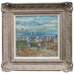 Walter John Beauvais Beach Scene Oil Painting