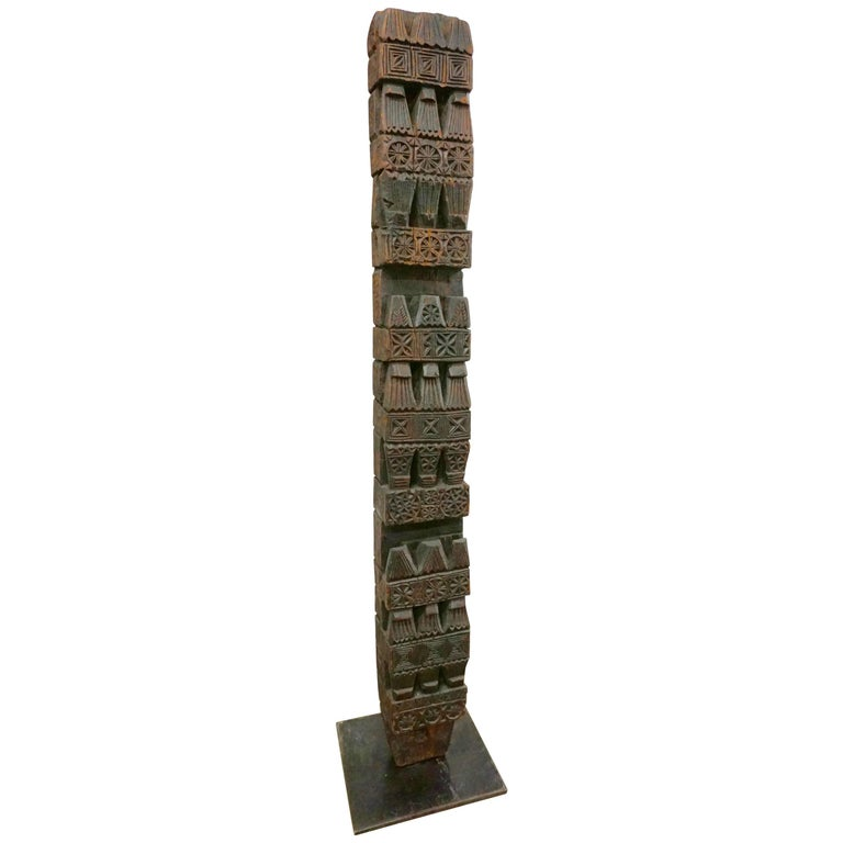 Hand-Carved Wood TOTEM 1