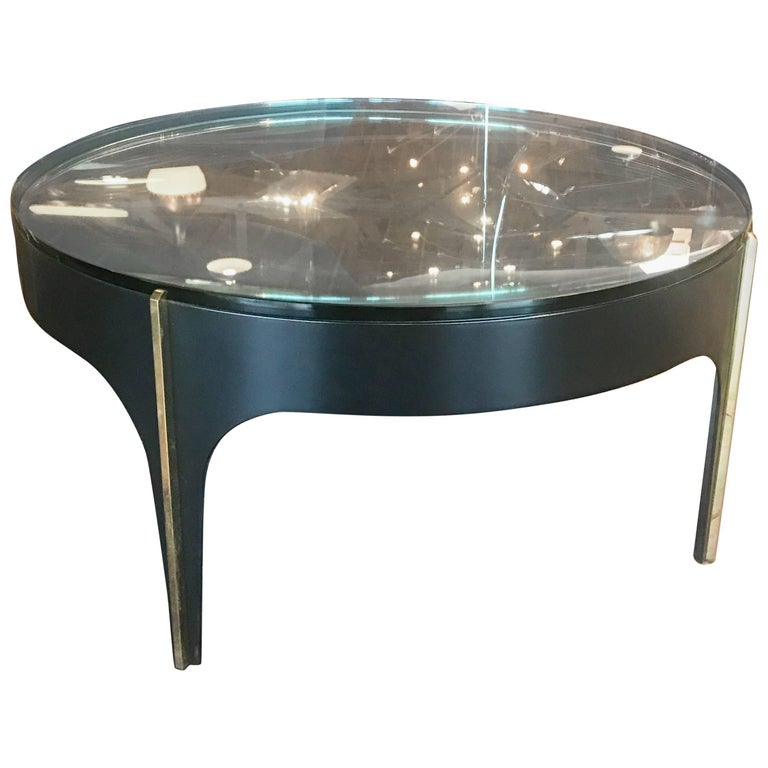 Ma+39's Custom Black and Brass Magnifying Lens Coffee Table