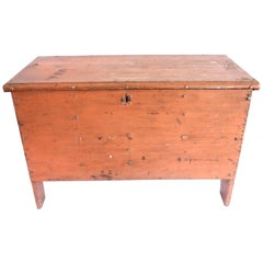 Early 19th Century Child's Painted Blanket Chest