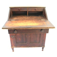Early 19th Century Country Fall Front Desk