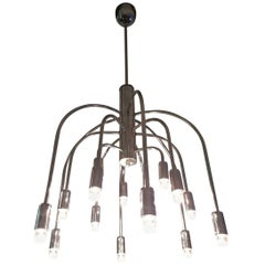 Vintage Mid-20th Century Sciolari Roma Fifteen Lights Pendant or Chandelier