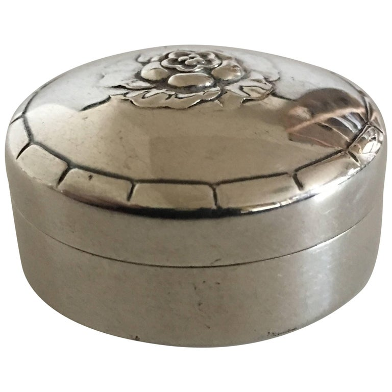 Georg Jensen Sterling Silver Pillbox No. 79G
