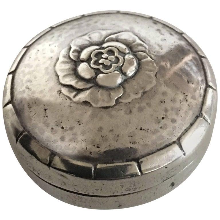 georg jensen sterling silver pill box no 79 at 1stdibs. Black Bedroom Furniture Sets. Home Design Ideas