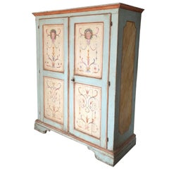 Painted 18th Century Italian Wardrobe Armoire