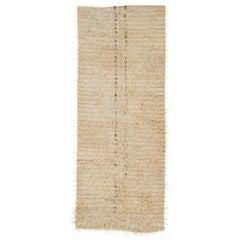 "Minimalist Angora ""Tulu"" Runner Made of Natural Mohair Wool"