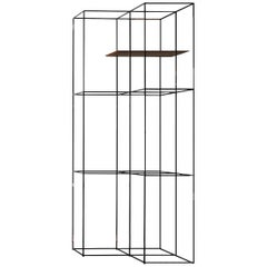 """""""TT3"""" Steel Structure and One Tray Angle Bookcase by Ron Gilad for Adele-C"""
