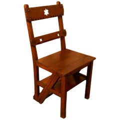 Arts & Crafts Metamorphic Kitchen Chair and Library Steps