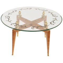 French Mid-Century Coffee Table, by Etienne-Henri Martin