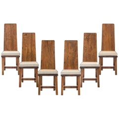 Set of 6 Swedish Oak Jugendstil Chairs