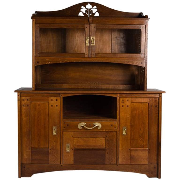 Léon Jallot Cabinet, Oak and Ash France, C. 1905