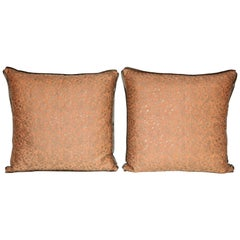 Pair of Fortuny Fabric Cushions in the Granada Pattern