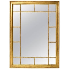 Rectangular Georgian Style Mirror with Gilt Frame