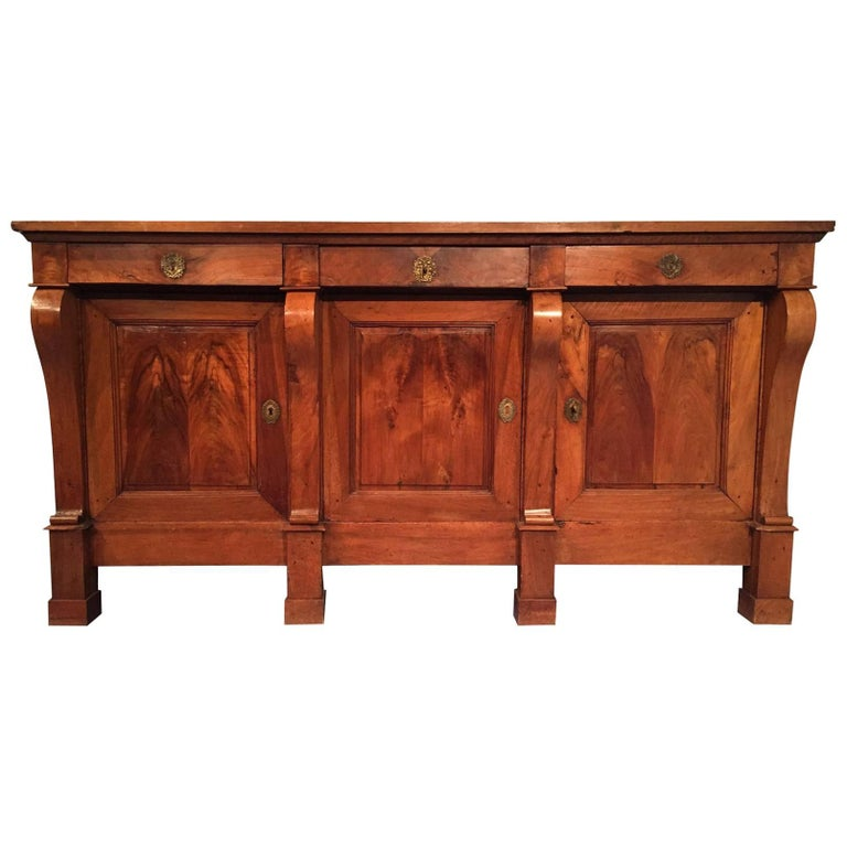 19th Century French Empire Walnut Sideboard
