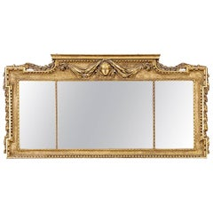 Early Victorian Gilt Overmantel Mirror