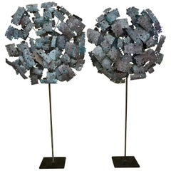 Pair of Brutalist Torchcut Sculptures