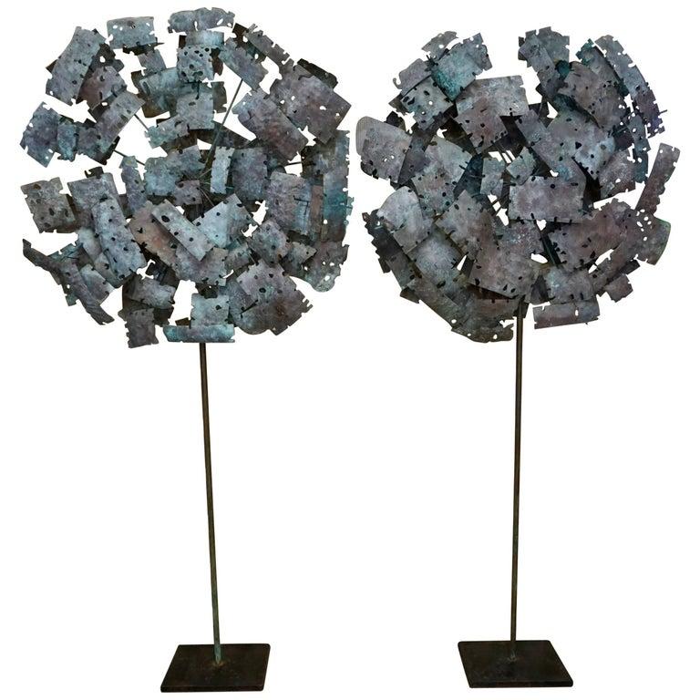 Pair of Brutalist Torchcut Sculptures 1
